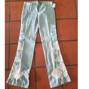 NWT embroidered jeans- mint condition